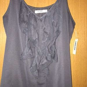 Old Navy Tops - Old Navy Gray Tank Top with Ruffle Detail